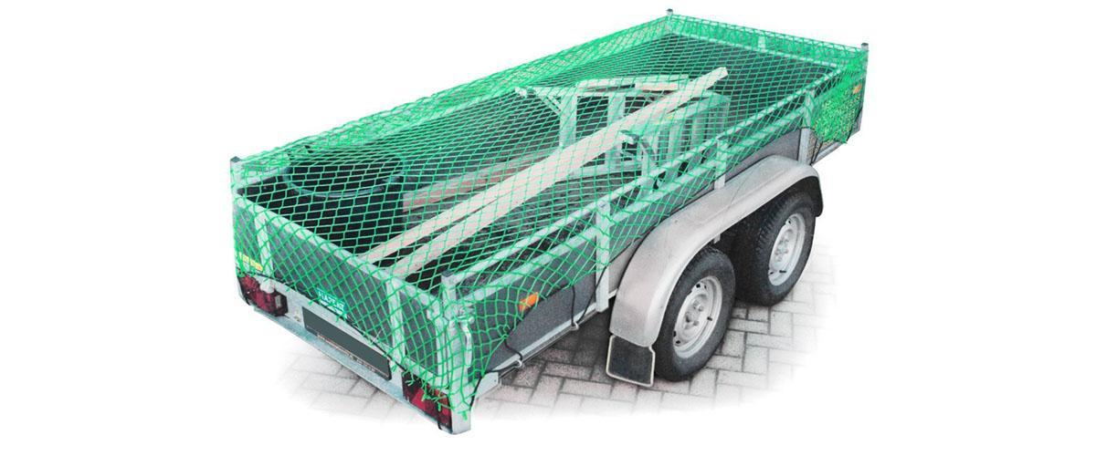 Anhängernetz, Gepäcknetz zur Ladungssicherung von Relaxdays