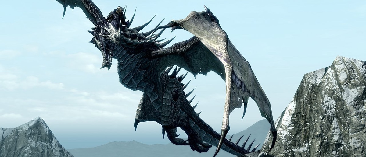 Drachen aus Skyrim