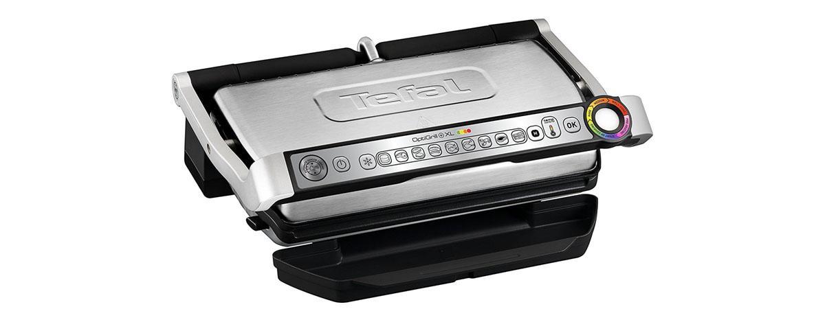 Elektrogrill / Elektrischer Tischgrill / Kontaktgrill Tefal GC722D Optigrill plus XL, 2000 W