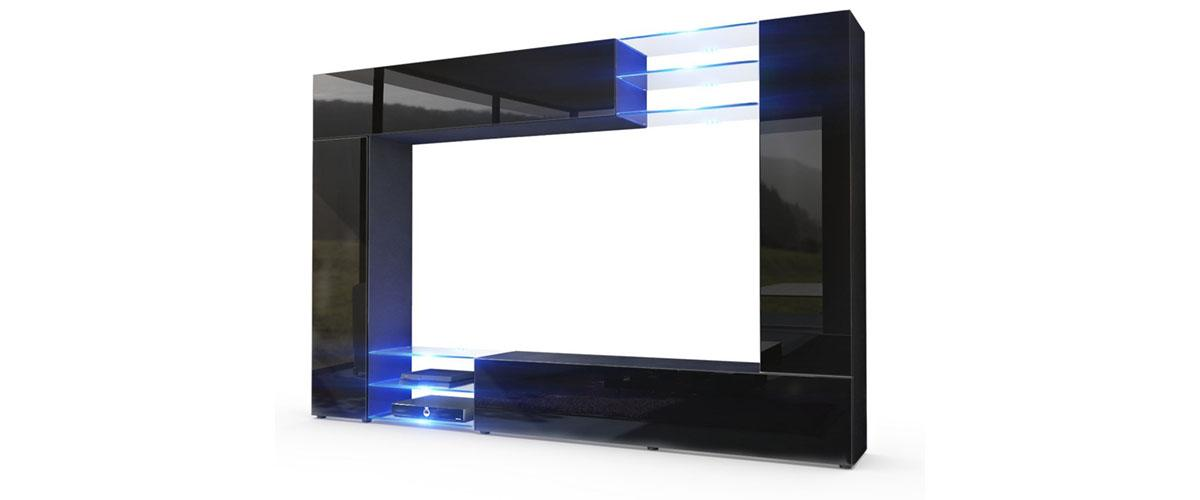 LED Wohnwand / Anbauwand / Wohnzimmerschrank Mirage Von Vladon