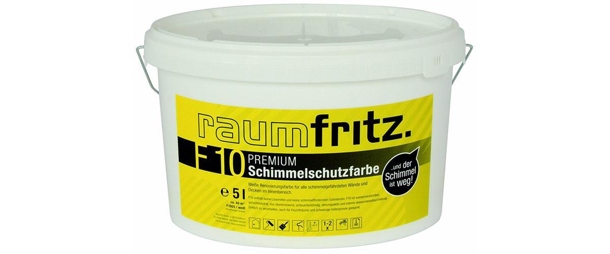 Schimmelschutzfarbe F10 PREMIUM von Raumfritz