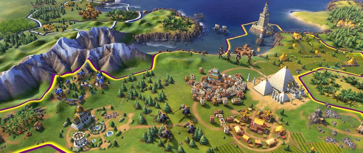 Ausschnitt aus dem Spiel Civilization VI