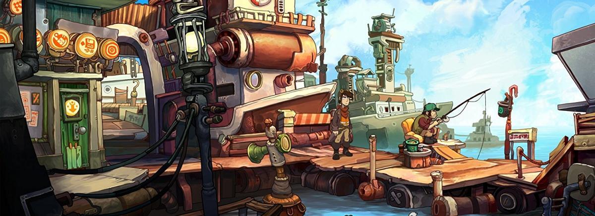 Ausschnitt aus dem Spiel Deponia von Daedalic Entertainment.