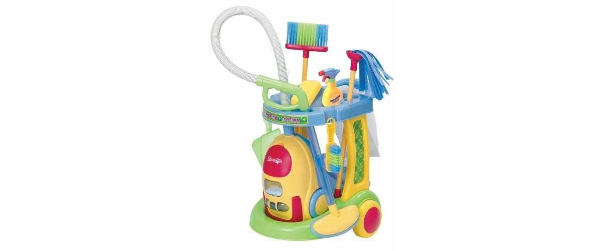 Kinder-Putztrolley PlayGo 3080 mit Kinder-Staubsauger