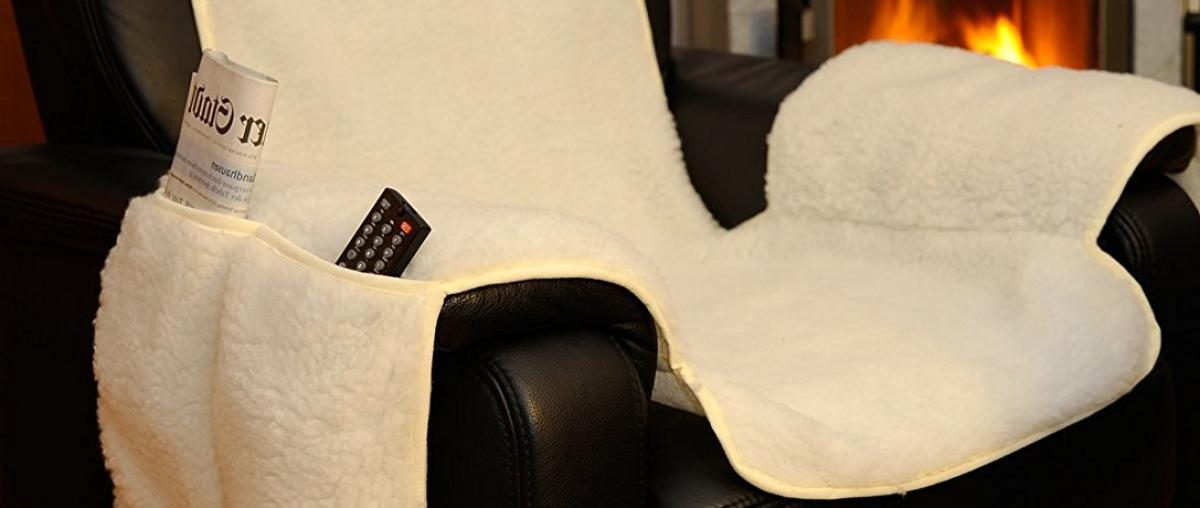 Lammflor Sesselauflage / Sesselschoner von Arsvita