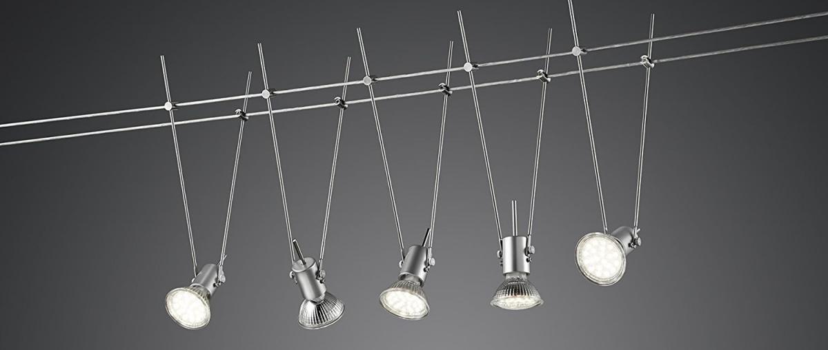 Trio Leuchten LED-Seilsystem Basic, titan 770010587 von Trio Leuchten