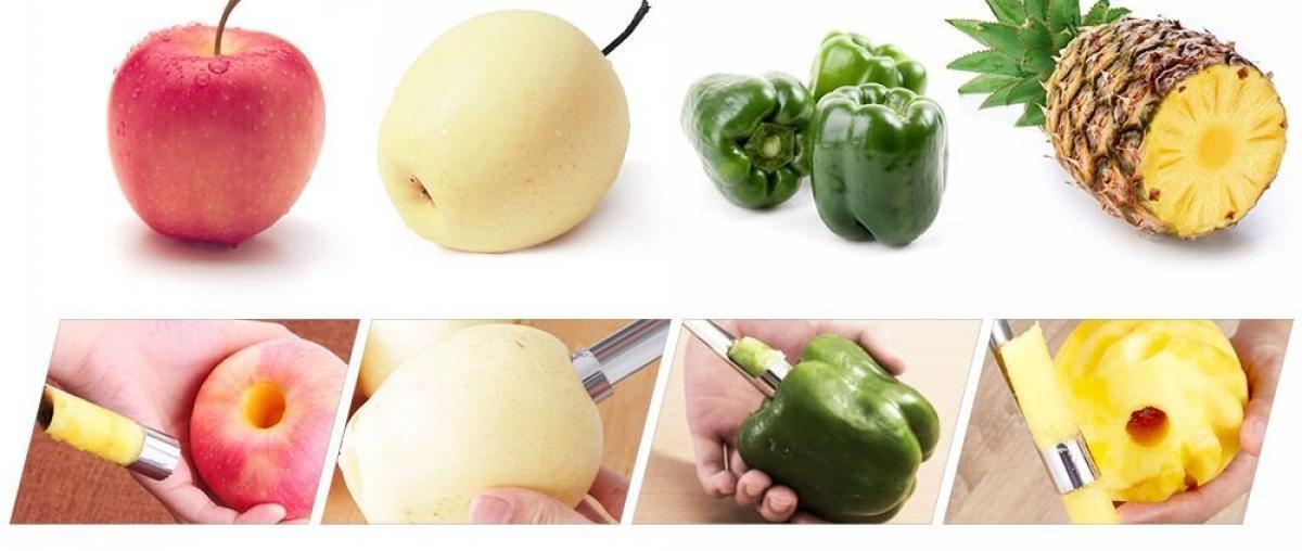 Möglichkeiten eines Apfelentkerners