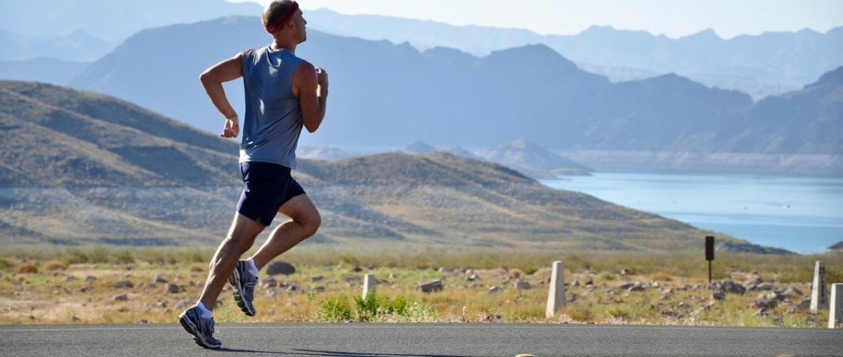 Sportler bei Freizeit- und Sportaktivität in der Natur