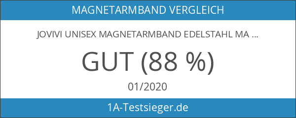 JOVIVI Unisex Magnetarmband Edelstahl Magnetisch Armreif Magnete Armband Armrief