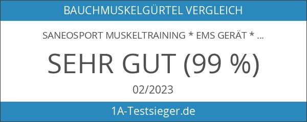 SaneoSPORT Muskeltraining * EMS Gerät * Muskelstimulator * deutsche Markenqualität