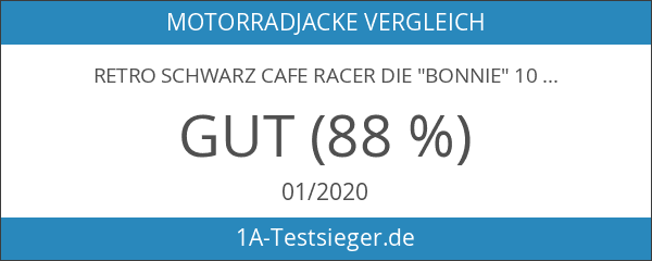 "Retro Schwarz Cafe Racer die ""Bonnie"" 100% Bovine Leder Motorrad-Jacke"