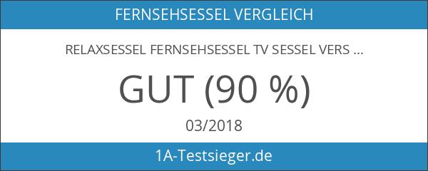 Relaxsessel Fernsehsessel TV Sessel verstellbar Liegefunktion Kunstleder Schwarz - H-5610C
