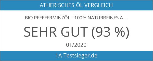 Bio Pfefferminzöl - 100% naturreines ätherisches Öl - Organisch zertifiziert