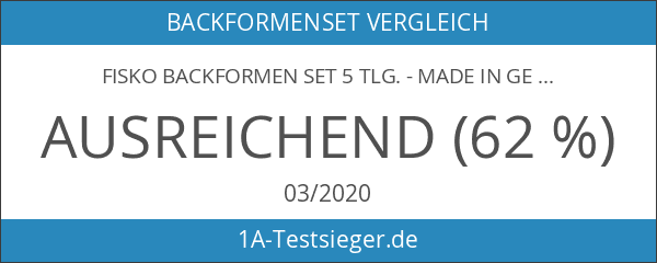 Fisko Backformen Set 5 tlg. - Made in Germany antihaftbeschichtet