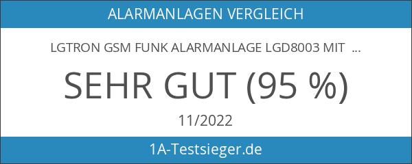 LGtron GSM Funk Alarmanlage LGD8003 mit 868 MHz Funk-Sicherheitsfrequenzband