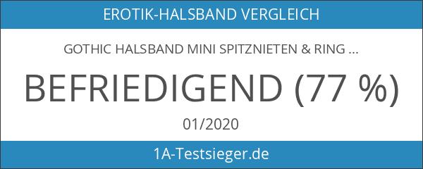 Gothic Halsband Mini Spitznieten & Ring
