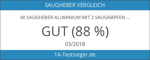 4x Saugheber Aluminium mit 2 Saugnäpfen
