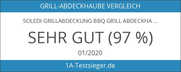 SOLEDI Grillabdeckung BBQ Grill Abdeckhaube Gasgrill Schutzhülle Haube 136 x