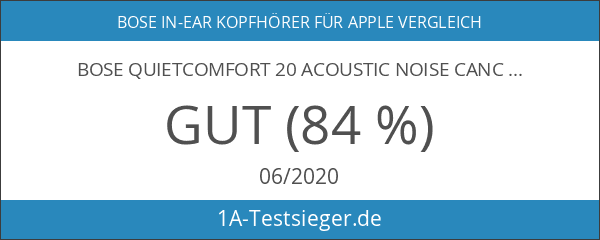 Bose QuietComfort 20 Acoustic Noise Cancelling Kopfhörerfür Apple Gerät weiß