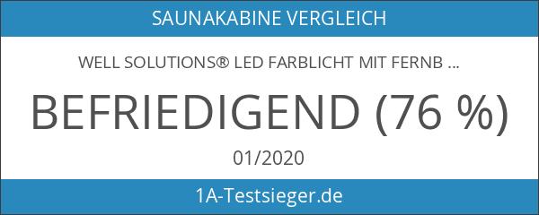 Well Solutions® LED Farblicht mit Fernbedienung Licht Therapie mit 609