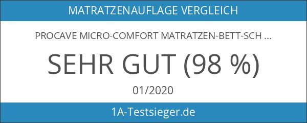 PROCAVE Micro-Comfort Matratzen-Bett-Schoner weiß 90x200 cm mit Spannumrandung