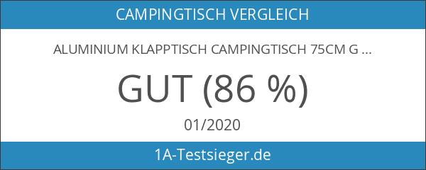 Aluminium Klapptisch Campingtisch 75cm Gartentisch Campingmöbel Camp Active Falttisch Reisetisch