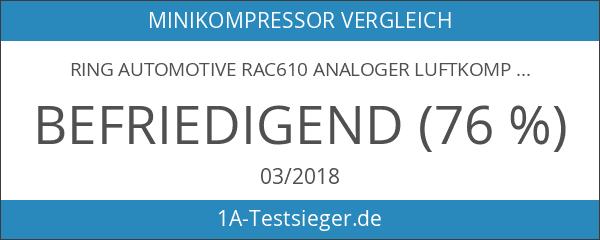 Ring Automotive RAC610 Analoger Luftkompressor für den Zigarettenanzünder