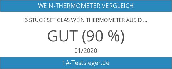 3 Stück Set Glas Wein Thermometer aus Deutscher Herstellung .