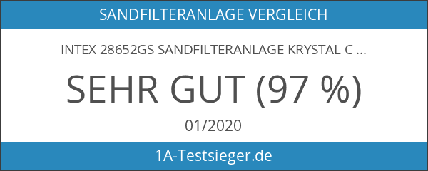 Intex 28652GS Sandfilteranlage Krystal Clear 10 m³ & Salzwassersystem