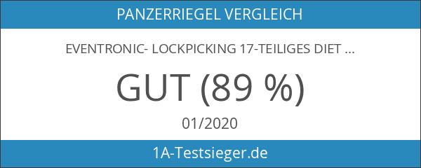 Eventronic- Lockpicking 17-Teiliges Dietrich Set mit 2 Transparentem Trainingsschlössern und