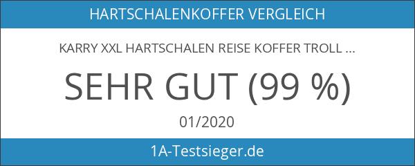 Karry XXL Hartschalen Reise Koffer Trolley TSA Schloss 120 Liter