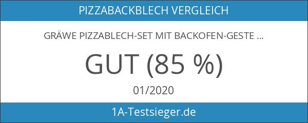 GRÄWE Pizzablech-Set mit Backofen-Gestell 4-tlg.