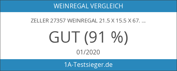 Zeller 27357 Weinregal 21.5 x 15.5 x 67.5 cm