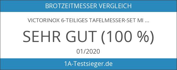 Victorinox 6-teiliges Tafelmesser-Set mit Wellenschliff in Grün