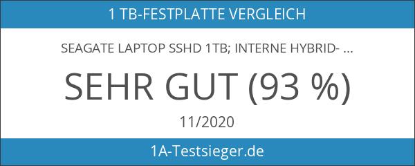 "Seagate Laptop SSHD 1TB; interne Hybrid-Festplatte; 2.5"" Flash-Speicher 8GB"