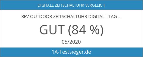 REV OUTDOOR ZEITSCHALTUHR digital ǀ Tageszeit-Schaltuhr mit Countdown- und Zufallsfunktion