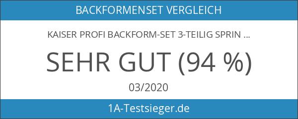 Kaiser Profi Backform-Set 3-teilig Springform Bundform Gugelhupfform Königskchenform La Forme