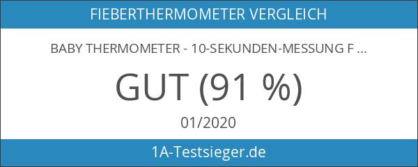 BABY Thermometer - 10-Sekunden-Messung Fieberthermometer mit KLEINER TIPP - Fieber