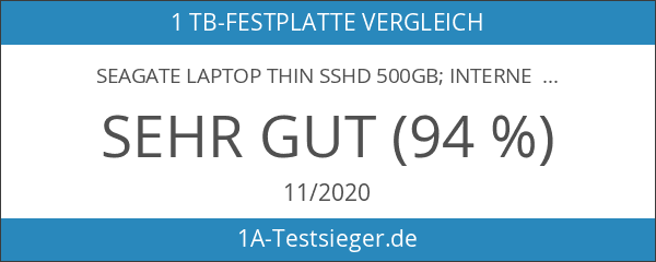 "Seagate Laptop Thin SSHD 500GB; interne Hybrid-Festplatte; 2.5"" Flash-Speicher 8GB"