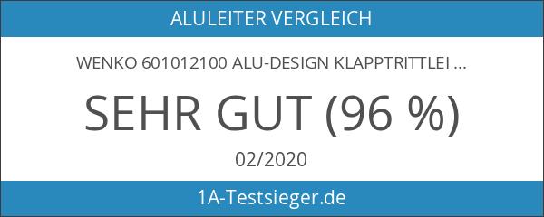 Wenko 601012100 Alu-Design Klapptrittleiter 3-stufig - Haushaltsleiter