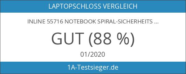 InLine 55716 Notebook Spiral-Sicherheitsschloss mit Zahlenkombination