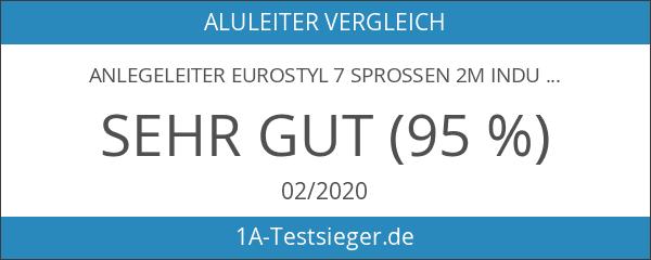 Anlegeleiter EUROSTYL 7 Sprossen 2m Industriequalität Versandkostenfrei
