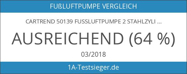 Cartrend 50139 Fussluftpumpe 2 Stahlzylinder a' 12 cm