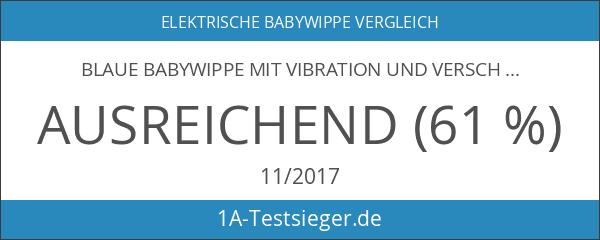 Blaue Babywippe mit Vibration und verschiedenen Melodien