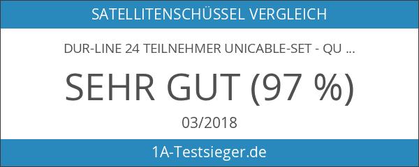 DUR-line 24 Teilnehmer Unicable-Set - Qualitäts-Alu-Sat-Anlage - Select 75