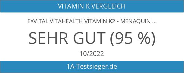 EXVital VitaHealth Vitamin K2 - Menaquinon MK7 200 µg hochdosiert-