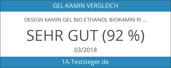 Design Kamin Gel Bio Ethanol Biokamin Riviera Schwarz