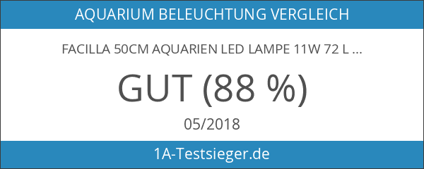 Facilla 50cm Aquarien LED Lampe 11W 72 LEDs blau&weiß inkl.2