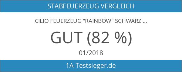 """Cilio Feuerzeug """"Rainbow"""" schwarz"""