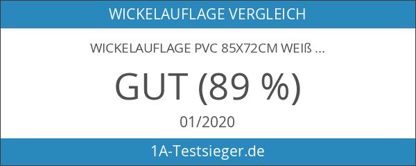 Wickelauflage PVC 85x72cm weiß